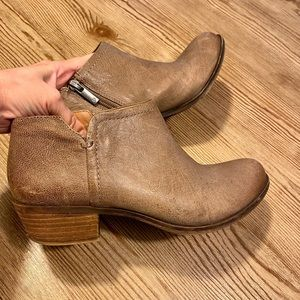 Lucky Brand Brown Leather Booties 7.5